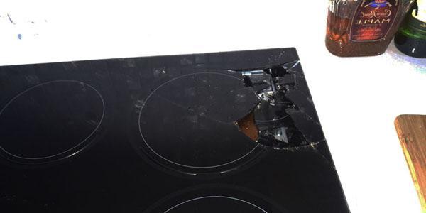 Bếp từ vỡ mặt kính do bếp kém chất lượng